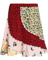 COACH - Fluted Printed Silk Mini Skirt - Lyst