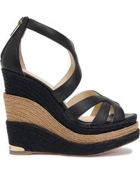 Paloma Barceló - Leather Espadrille Wedge Sandals - Lyst