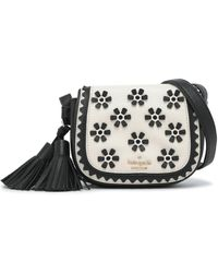 Kate Spade - Lietta Bryant Court Embellished Textured-leather Shoulder Bag - Lyst