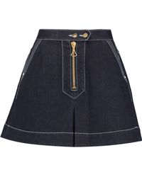 Ellery - El Topo Denim Mini Skirt - Lyst