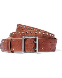 Rag & Bone - Willow Studded Leather Belt - Lyst