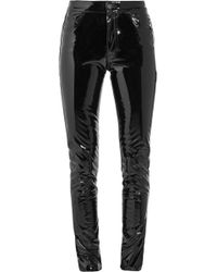 Anthony Vaccarello - Vinyl Skinny Trousers - Lyst