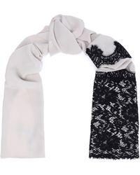 Dolce & Gabbana - Lace-paneled Silk-blend Georgette Scarf - Lyst
