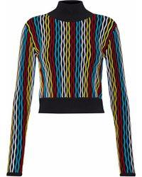 Diane von Furstenberg - Ribbed Wool-blend Turtleneck Jumper - Lyst