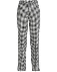 McQ Zip-detailed Gingham Wool-twill Straight-leg Pants Black