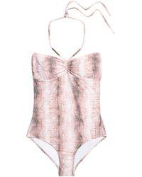 Melissa Odabash - Calabria Snake-print Halterneck Swimsuit - Lyst