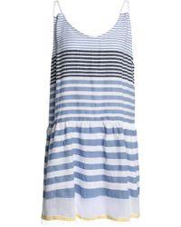 lemlem - Striped Cotton-blend Gauze Mini Dress - Lyst