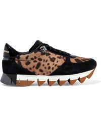 Dolce & Gabbana - Paneled Leather Sneakers - Lyst