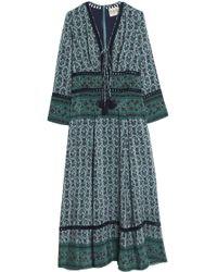 Sea - Toko Printed Silk Crepe De Chine Maxi Dress - Lyst