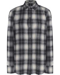 Vince - Checked Cotton-flannel Shirt - Lyst