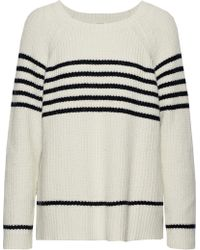 Soft Joie - Isabeth Striped Ribbed Cotton-blend Jumper - Lyst