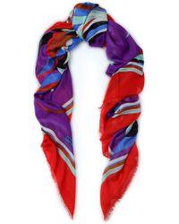 Emilio Pucci - Printed Cashmere And Silk-blend Scarf - Lyst