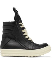 Rick Owens - Geobasket Leather High-top Trainers - Lyst