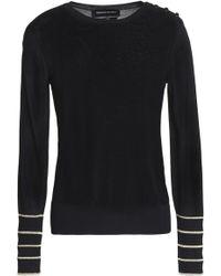 Vanessa Seward - Metallic-trimmed Ribbed-knit Top - Lyst