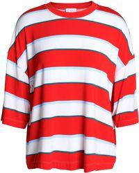 Stella Jean - Oversized Striped Stretch-jersey T-shirt - Lyst