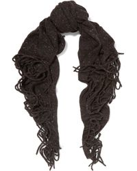 Autumn Cashmere - Fringed Printed Cashmere Scarf - Lyst
