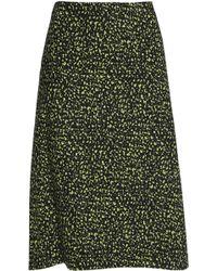 Marni - Printed Cotton-poplin Skirt Lime Green - Lyst