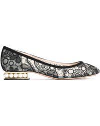 Nicholas Kirkwood - Suede-trimmed Embroidered Mesh Ballet Flats - Lyst