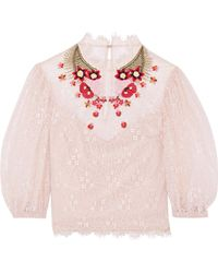 Temperley London - Leo Embroidered Lace Top - Lyst
