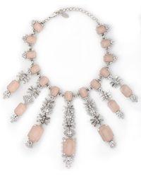 Elizabeth Cole - Silver-tone Crystal Necklace - Lyst