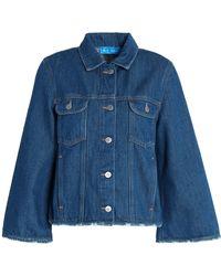M.i.h Jeans - Oliver Distressed Denim Jacket - Lyst
