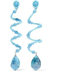 Ben-Amun - Bead, Stone And Silver-tone Earrings - Lyst