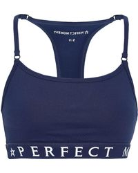 Perfect Moment - Woman Stretch Sports Bra Navy - Lyst