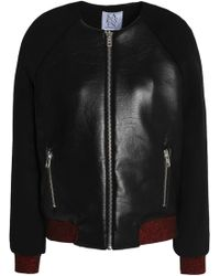 Zoe Karssen - Faux Leather Bomber Jacket - Lyst