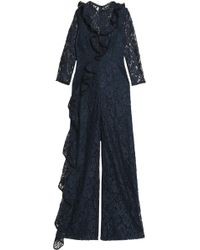 Alexis - Ruffle-trimmed Corded Lace Jumpsuit - Lyst