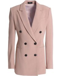 Theory - Double-breasted Crepe Blazer - Lyst