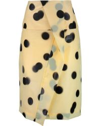 Marc By Marc Jacobs - Misty Wrap-effect Polka-dot Pu Skirt - Lyst