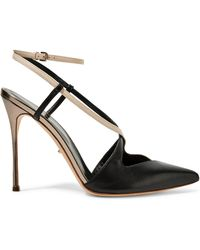 Sergio Rossi - Sing Metallic Cutout Leather Pumps - Lyst