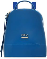 Furla - Leather-trimmed Pvc Backpack - Lyst
