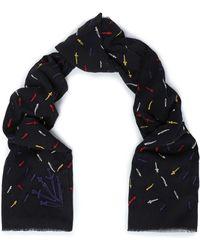 Rag & Bone - Frayed Embroidered Cotton Scarf - Lyst