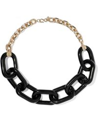Kenneth Jay Lane - Gold-tone Resin Chain Necklace - Lyst