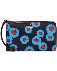 Kate Spade - Floral-print Coated-canvas Wallet - Lyst