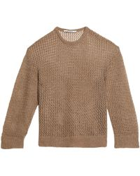 Chalayan - Open-knit Sweater Light Brown - Lyst