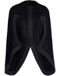 Chalayan - Cape-effect Cotton-twill Jacket - Lyst