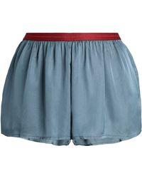 Love Stories - Satin Pyjama Shorts - Lyst