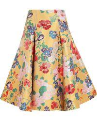 Valentino - Silk-blend Jacquard Skirt - Lyst