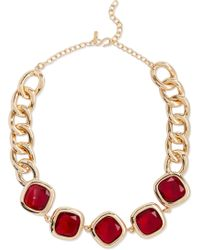 Kenneth Jay Lane - Gold-tone Crystal Necklace - Lyst