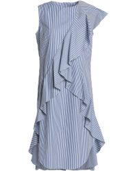 Goen.J - Ruffled Striped Cotton-poplin Dress - Lyst