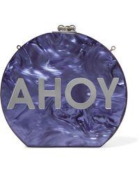 Edie Parker - Oscar Ahoy Mirrored Marble-effect Acrylic Clutch - Lyst