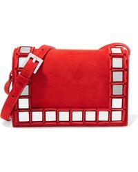 Tomasini Paris - Anja Embellished Suede Shoulder Bag - Lyst