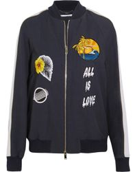 Stella McCartney - Embroidered Faille Bomber Jacket - Lyst