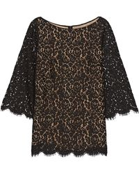 Michael Kors - Scalloped Cotton-blend Corded Lace Top - Lyst