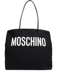 Moschino Printed Canvas Tote Black