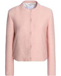 Sandro - Crepe Jacket Pastel Pink - Lyst