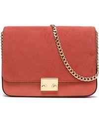Loeffler Randall | Leather And Suede Shoulder Bag | Lyst