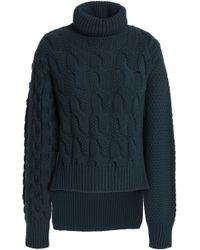 MM6 by Maison Martin Margiela - Wool-blend Cable-knit Turtleneck Sweater - Lyst